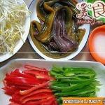 绿豆芽炒鳝丝