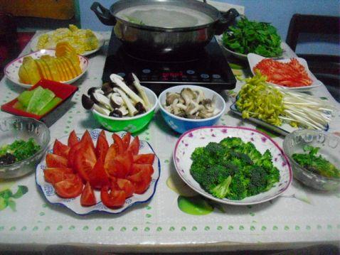 素什锦高汤火锅的简单做法