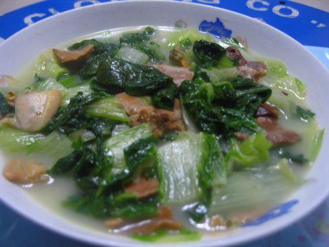 青菜蚌肉的做法【步骤图】_菜谱_美食杰