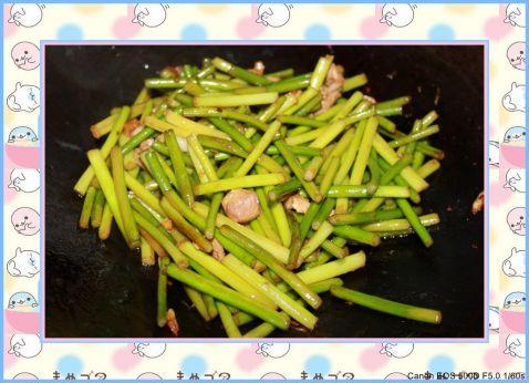 猪肉炒蒜苔怎么吃