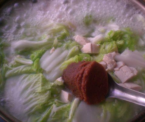 大白菜炖冻豆腐的家常做法