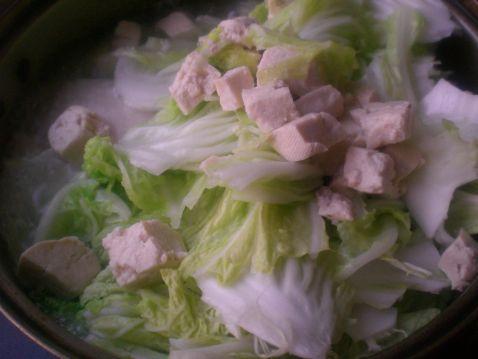 大白菜炖冻豆腐的做法图解