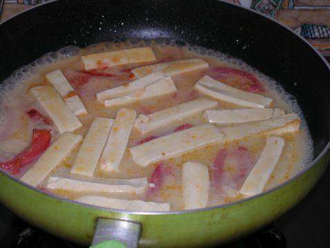 番茄煮豆腐的简单做法