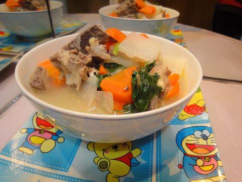 红萝卜大头菜猪骨汤怎么炒