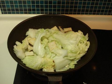 白菜豆腐炖粉条怎么炖
