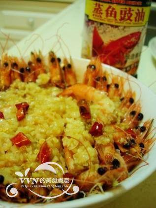 蒜茸开边虾的家常做法