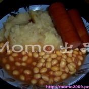 茄汁黄豆拌香肠薯泥