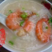 鲜虾瑶柱粥的做法