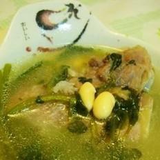 西洋菜黄豆大骨汤的做法