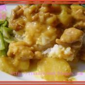 土豆咖喱鸡盖浇饭