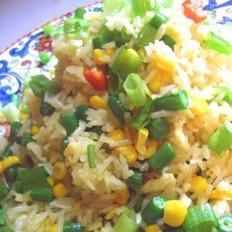 四季豆玉米蛋炒饭的做法