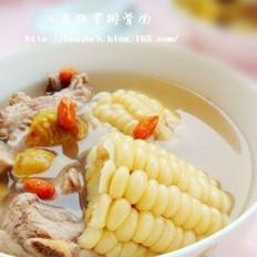 玉米板栗排骨汤的做法