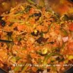 杂菜拌饭的做法