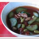 紫米青豆鸡蛋汤的做法