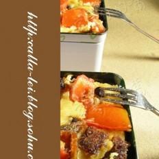 番茄鲮鱼PIZZA的做法