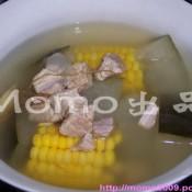 冬瓜玉米煲瘦肉的做法