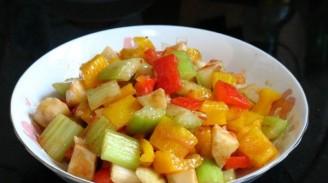 酸辣酱炒杂菜的做法