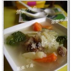 牛尾蔬菜清汤的做法