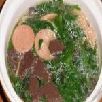 菠菜猪血汤