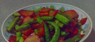 四季豆叉烧肉的做法