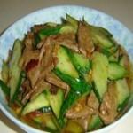 黃瓜炒豬肝
