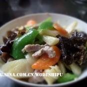 牛肉丝炒青椒