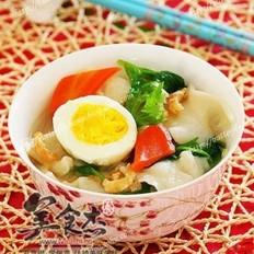 炝锅芹菜叶海米揪疙瘩