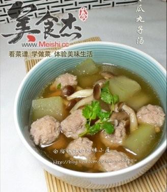 冬瓜丸子汤的做法