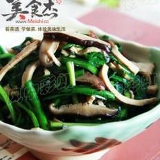 韭菜香菇炒豆干