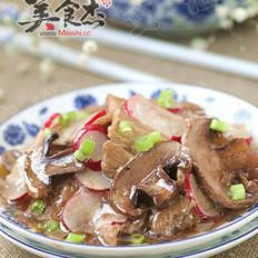 蘑菇五花肉烧萝卜