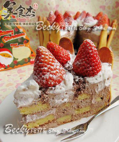 草莓巧克力棋格慕斯的做法图解