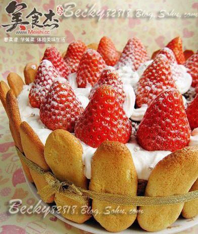 草莓巧克力棋格慕斯的做法大全