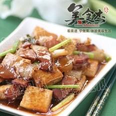腊肉烩豆腐