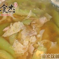 芦笋丝瓜肉片汤的做法