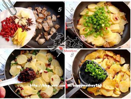 香煎五花肉土豆片的家常做法