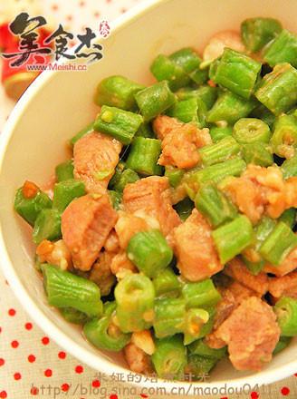 刀豆炒肉丁的做法