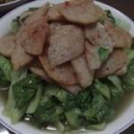 肉饼炒小白菜