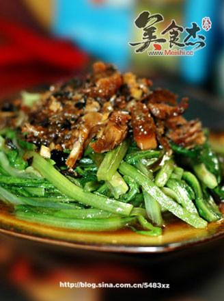 鲮鱼油麦菜的做法