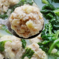 小白菜肉丸汤