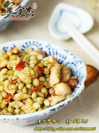 鲜麦仁炒鸡丁的做法