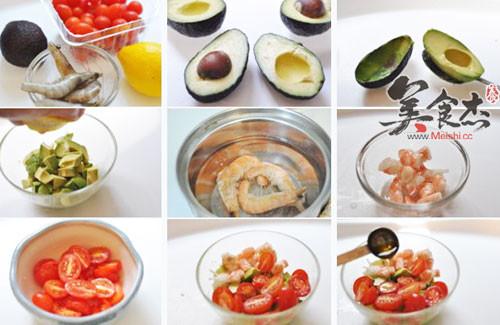 牛油果西红柿虾仁沙拉的做法大全