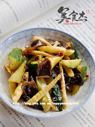 凉拌竹笋黄瓜的做法