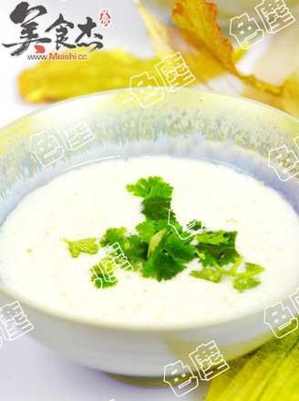 绿豆糯米奶粥的做法