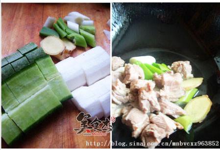 青萝卜山药羊肉汤的家常做法