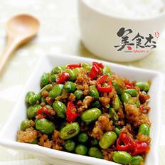 肉末炒青豆