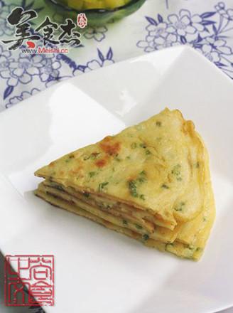韩式鸡蛋葱花饼的做法