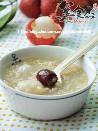 荔枝紅棗糙米粥的做法