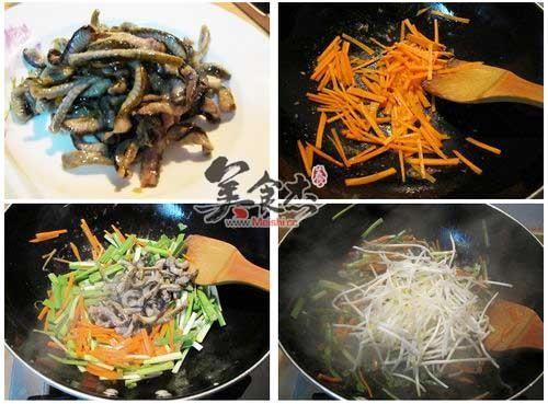 韭菜银芽炒鳝丝的做法图解