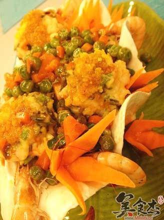 蛋黃鮮蝦餅的做法