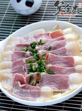 咸肉蒸春筍的做法